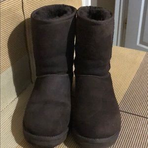 UGG Chocolate Brown Winter Boots EUC